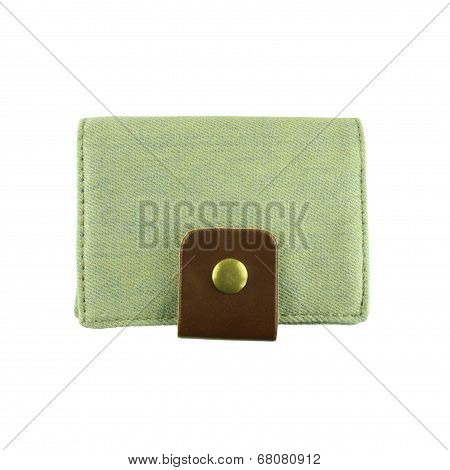 Jeans Wallet On A White Background