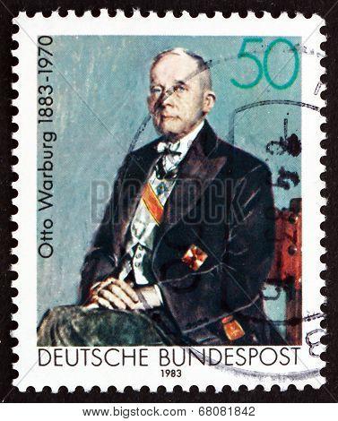 Postage Stamp Germany 1983 Otto Warburg, Nobel Laureate