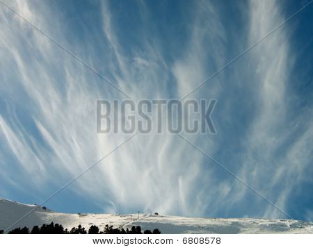 Cloud Formation Against A Blue Sky