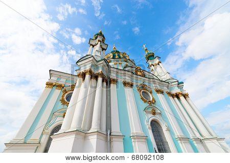 Saint Andrew Orthodox Church In Kyiv, Ukraine.