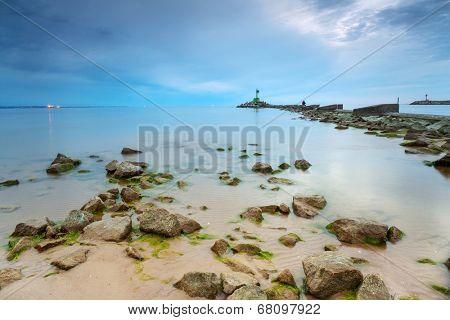 Beautiful beach at Baltic Sea in Poland