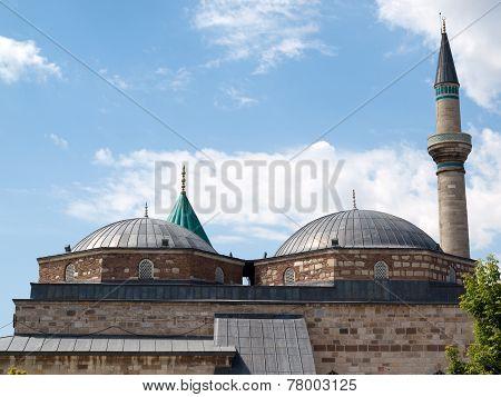 Mevlana museum mosque in Konya in Turkey poster