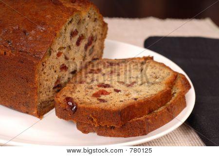 Banana cranberry nut bread
