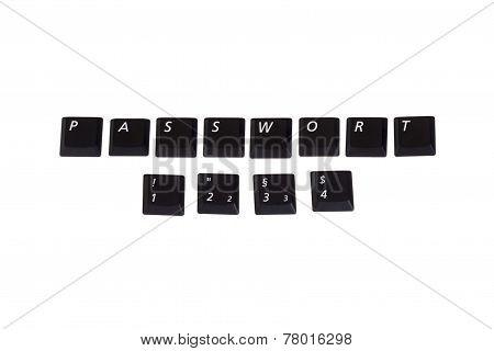 Password 1234 Written In Keys