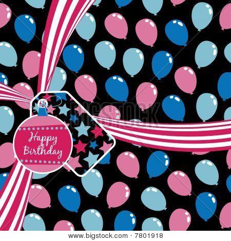pink birthday ribbon