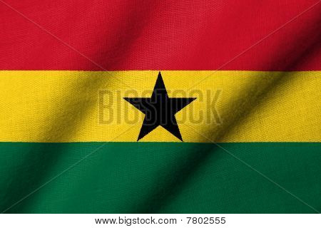 3D Flag Of Ghana Waving