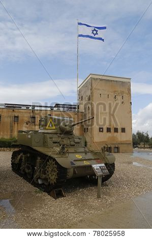 American M3A1 Stuart light tank on display at Yad La-Shiryon Armored Corps  Museum at Latrun