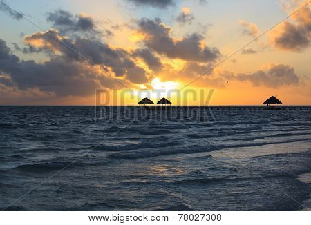 Sunrise in the Atlantic Ocean. Cayo Guillermo. Cuba. poster