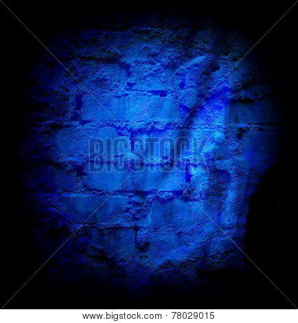 Blue Brick Stone Wall