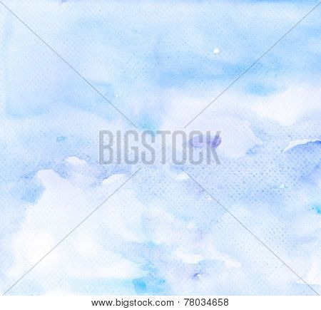 Abstract Blue Violet Watercolor Background