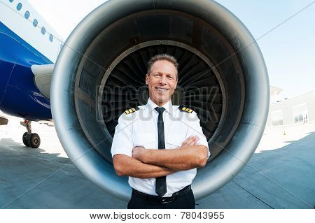Confident And Experienced Pilot.