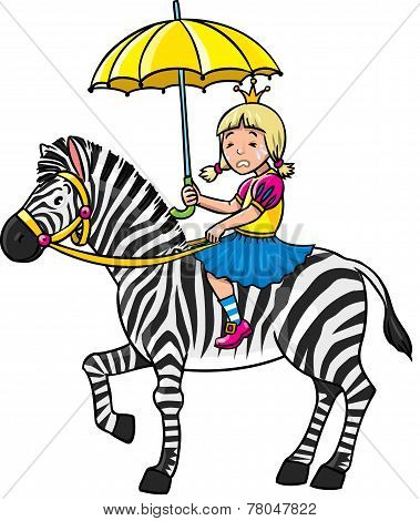 Princess And Zebra