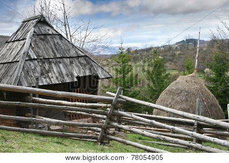 Open Air Museum Old Village In Sirogojno