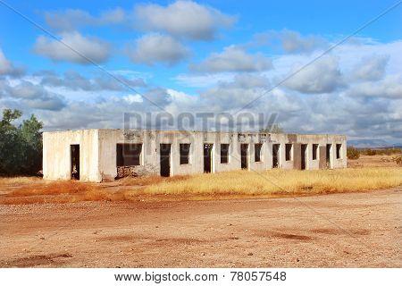 Abandoned Motel in Desert