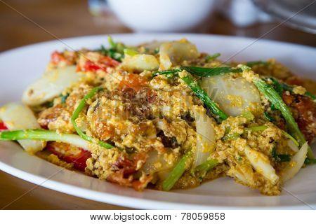 Crabmeat Curry Menu