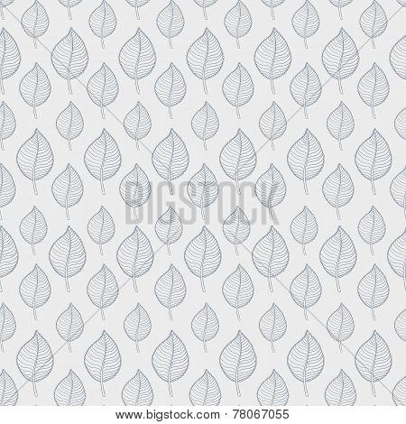 Pattern leafs gray