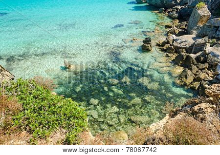 Uncontaminated Ocean Water (island Of Pianosa, Italy)
