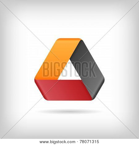 Logo Or Emblem Template. Vector Icon. Infinite Mobius Strip