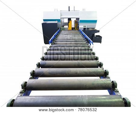 Cutting Machine With Feeder Isolated