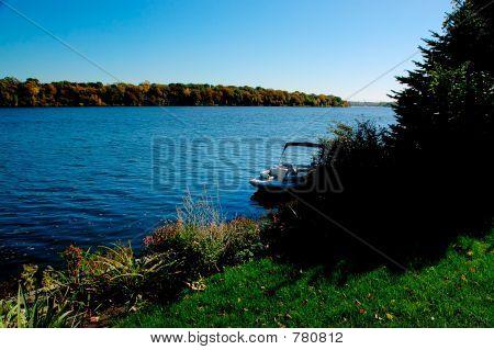 Boat on Mississippi river