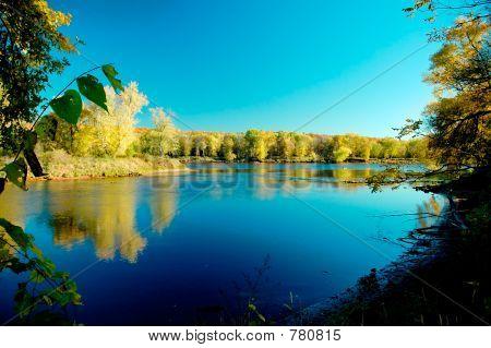 Dusk on Mississippi river