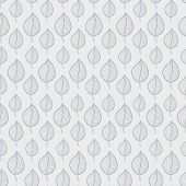 Seamless Autumn pattern on a white background with abstract grey leaf,leaf fall,defoliation,au tumn leaves ,falling leaves poster