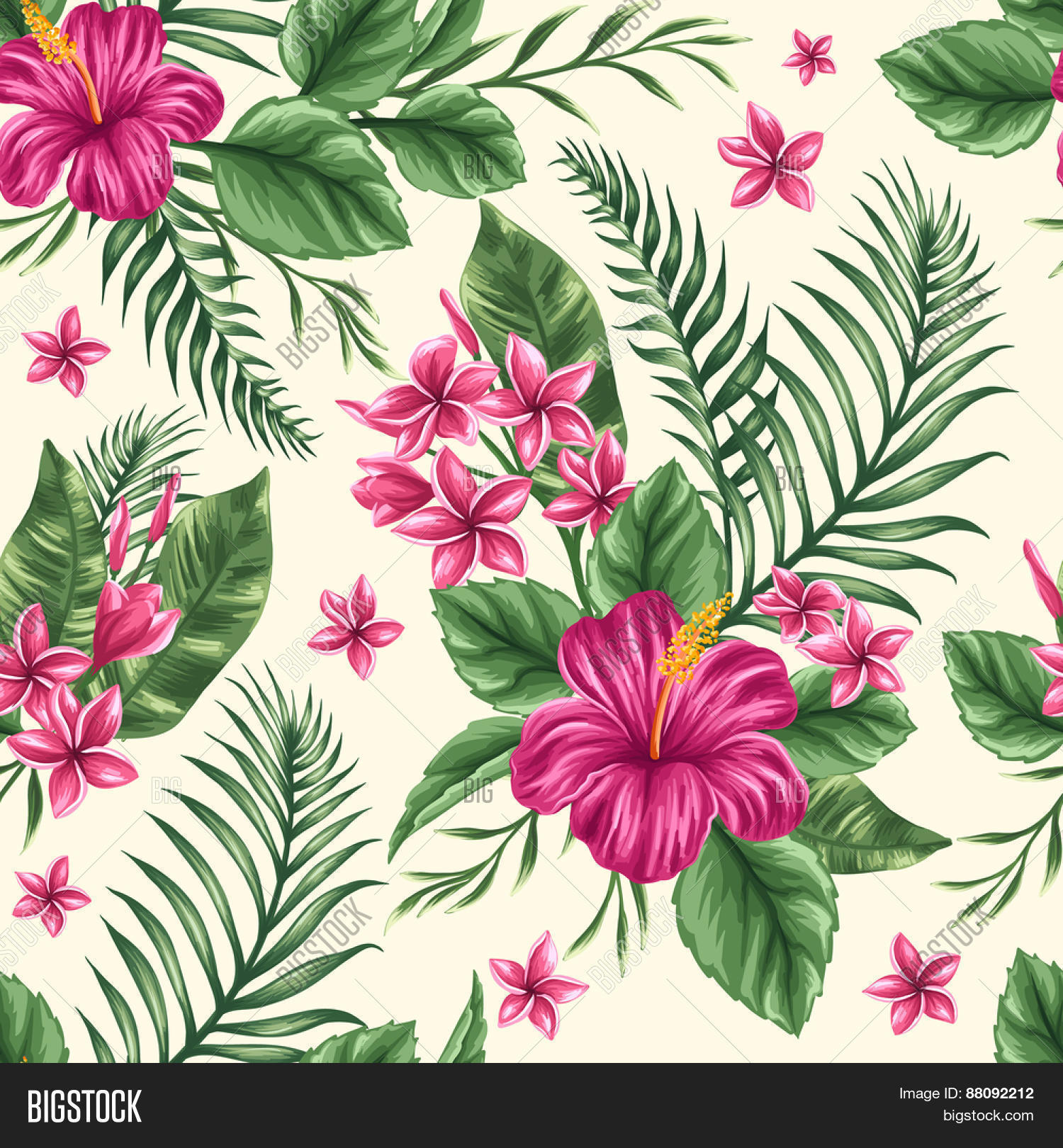 Tropical Floral Vector Photo Free Trial Bigstock