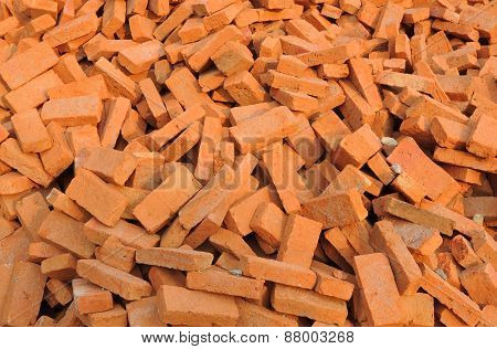 Orange brick stock for house building