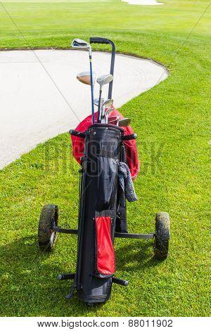 Golf Bag And Bunker
