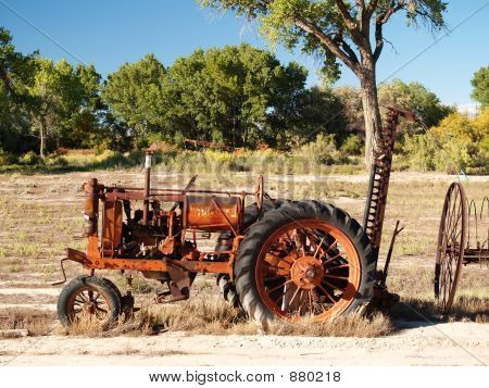 Red Tractor Antique