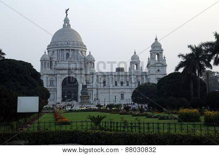 KOLKATA,INDIA - FEBRUARY 10: Victoria Memorial building in Kolkata, West Bengal, India on February 10, 2014.