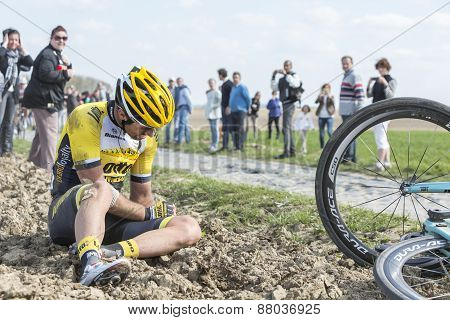 The Cyclist Tom Van Asbroeck - Paris Roubaix 2015