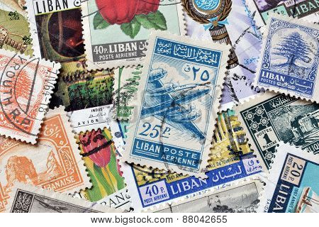 Lebanon on stamps