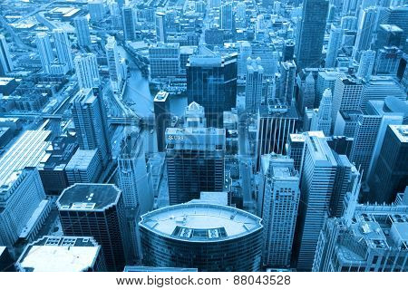 CHICAGO USA - August 10:The loop along with Chicago downtown is second largest business district in USA, On August 10, 2013 Chicago, USA.