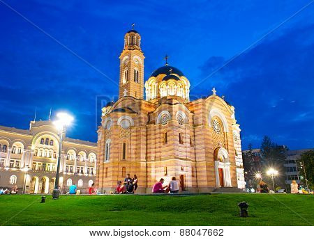 Cathedral of Christ the Saviour Banja Luka. Bosnia and Herzegovina poster