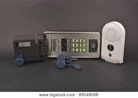 Interphone On Dark Background