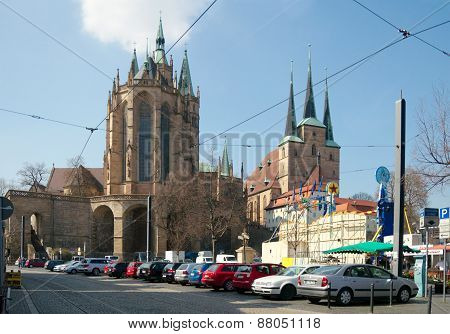 St. Mary's Cathedral And St. Severus' Church, Erfurt, Thuringia, Germany