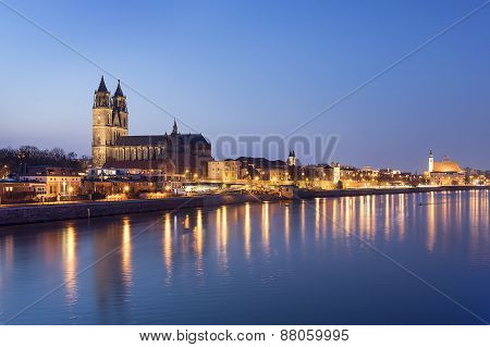 Night Scene Magdeburg