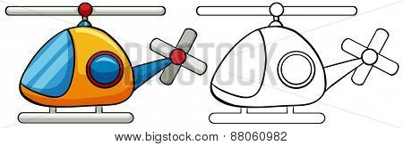 Close up doodles helicopter toy