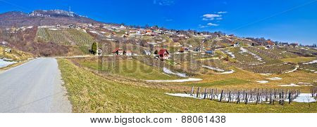 Kalnik Mountain Vineyards And Cottages Panorama