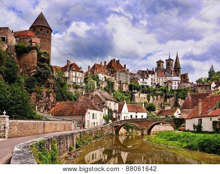 Pretty medieval town, Burgundy, France