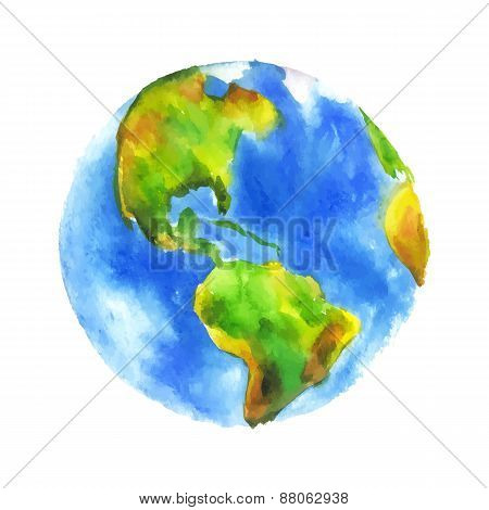 Watercolor Globe