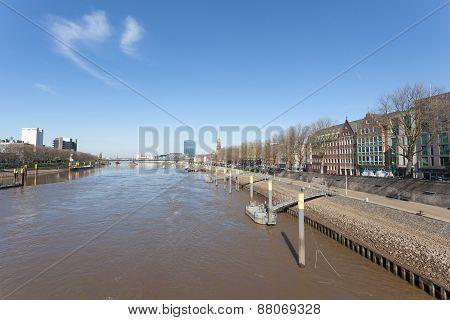 Weser River In Bremen