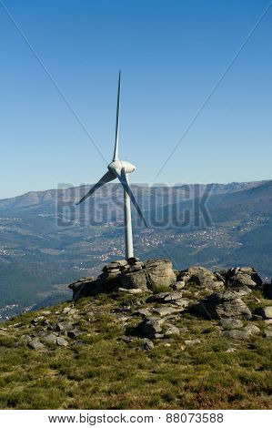 Wind Energy Tower - Stock Image