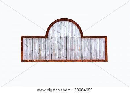 Medieval Signboard With Rusty Metal Frame