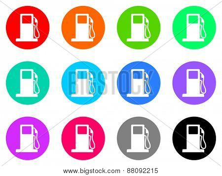 petrol vector icons set
