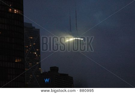 Hancock At Night  Lake Clouds