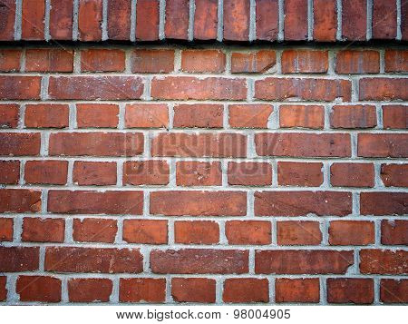 Wall made of red bricks
