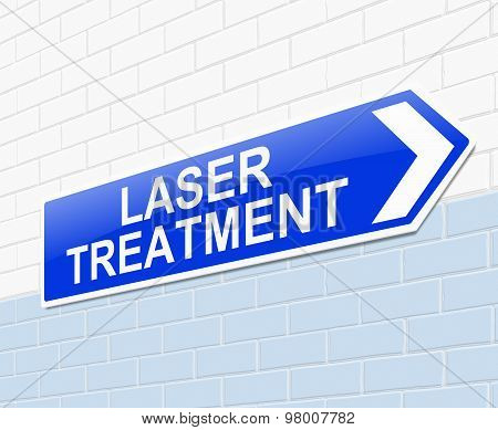 Laser Treatment Concept.