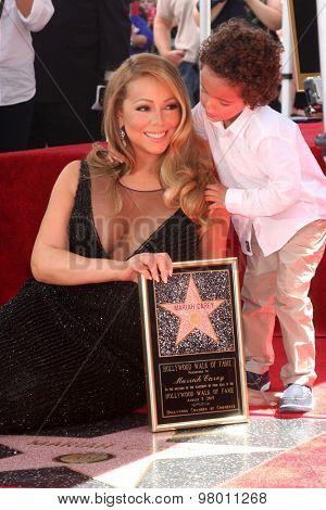 , LOS ANGELES - AUG 5:  Mariah Carey, Moroccan Cannon at the Mariah Carey Hollywood Walk of Fame Ceremony at the W Hollywood on August 5, 2015 in Los Angeles, CA